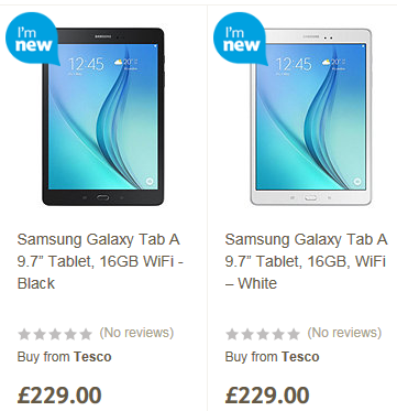 Tesco Direct Samsung Galaxy Tab offer June 15